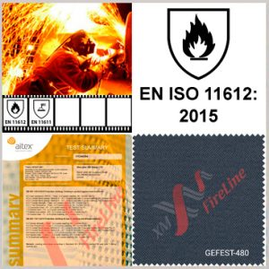 FR fabric Gefest-480 updates EN ISO 11612 to version:2015