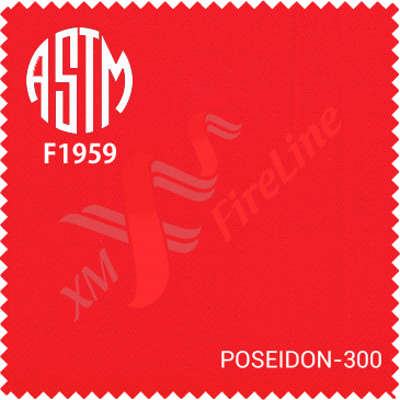 Poseidon-300 fr fabric is certified to ASTM F1959 (HRC 2)